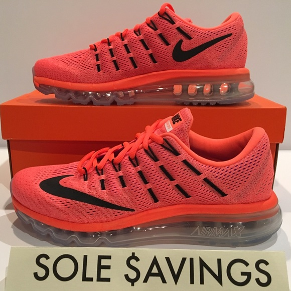 buy online e0f30 df451 Nike Air Max 2016 Hyper Orange Women s Running NEW